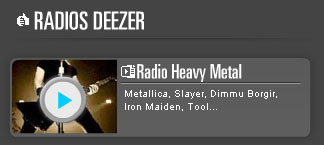 radio heavy metal sur Deezer