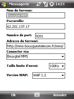 """Paramètres option """"Web & mail"""" de Bouygues Telecom etape 20"""