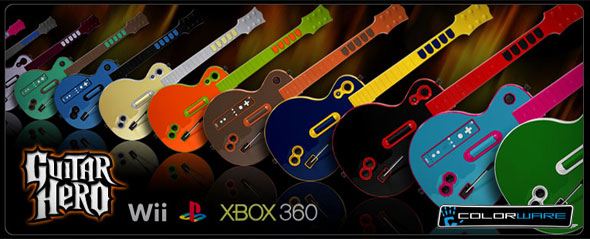 Les guitares de Guitar Hero III personnalisées par Colorware