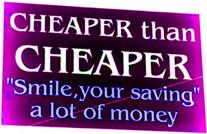 Cheaper than cheaper