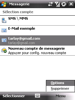 Configuration des mails de l'option Web & Mail de Bouygues