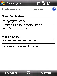 Configuration des mails de l'option Web & Mail de Bouygues