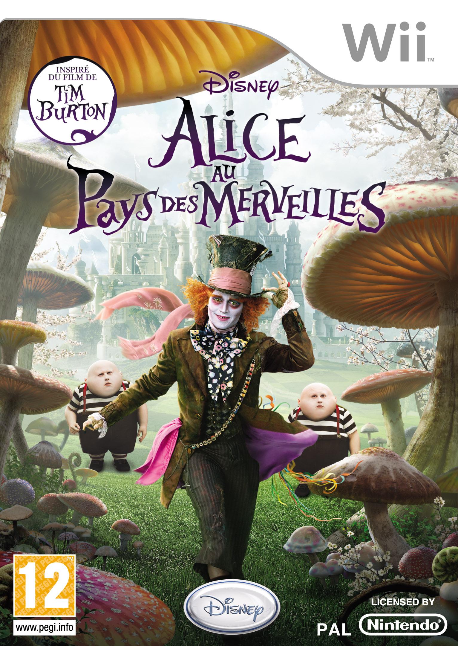 Alice au Pays des Merveilles Burton Jeu vidéo Wii Disney