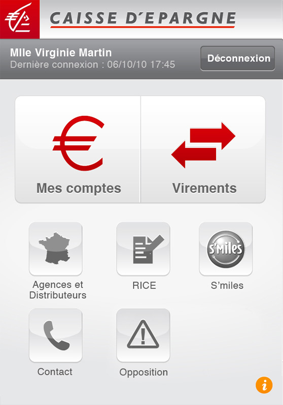 application Iphone caisse d'epargne