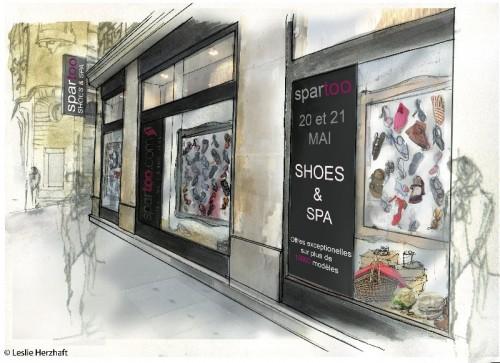Shoes & Spa Rough Vitrine