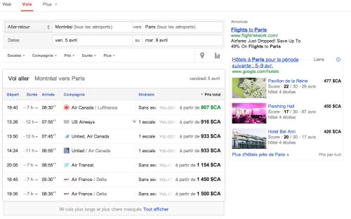 google flights le comparateur de vol disponible en france h2 blog. Black Bedroom Furniture Sets. Home Design Ideas