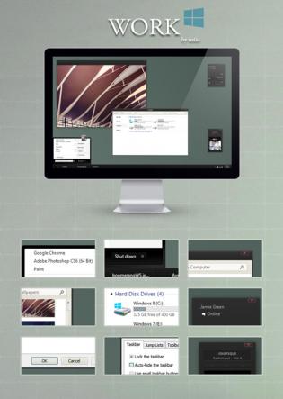 le-theme-gratuit-work-pour-windows-8