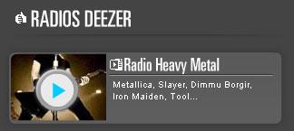 radio heavy metal sur Deezer