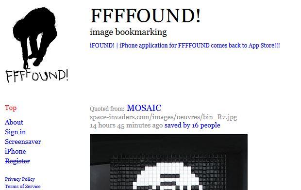 FFFFound, un service de Social Bookmarking pour les images